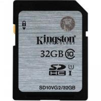 Карта памяти SDHC Kingston 32Gb UHS-I 45Mb/s (SD10VG2/32GB)